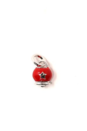 Red capri bell charm in silver  Pierino Jewels | 20000055 | 4025ROSSO