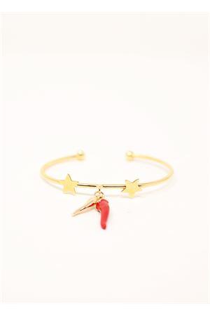 Bracelet with hornas and stars Sciò Sciò | 36 | BRACCCORNOORO2CORNASTELLE