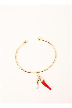 Golden metal bracelet with neapolitan horns Sciò Sciò | 36 | BRACCCORNOORO2CORNI