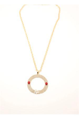 Golden necklace with faraglioni  Faraglioni | 35 | CL001FAFARAGLIONI