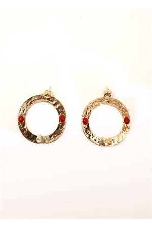 Hoop earrings with faraglioni  Faraglioni | 48 | OR002FAGIALLO