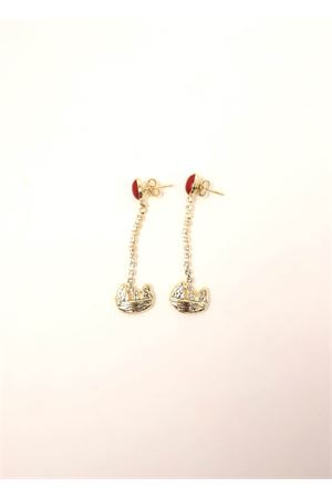 Pendant earrings with Faraglioni and swarovski stones  Faraglioni | 48 | OR006FAMETALLOPLORO