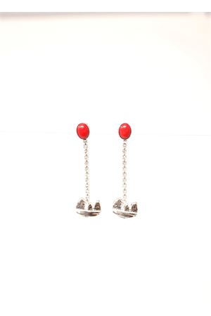 MMetal earrings with swrovski stones and Capri symbol  Faraglioni | 48 | OR006FAMETALLOPLSW