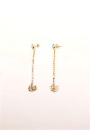 orecchini faraglioni con pietre turchese Faraglioni | 48 | OR006FAMETALPLORO