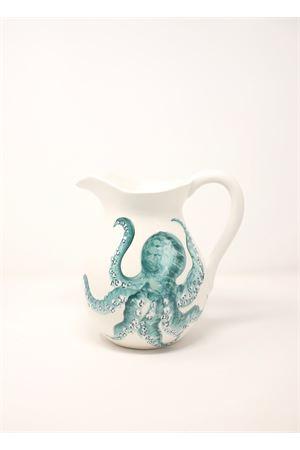 brocca in ceramica con decorazione polipo Sea Gull Capri | 20000026 | BROCCAPOLIPOPOLIPO