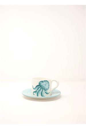 Espresso coffee cup with jellyfish  Sea Gull Capri | 20000026 | CAFFEMEDUSABLU