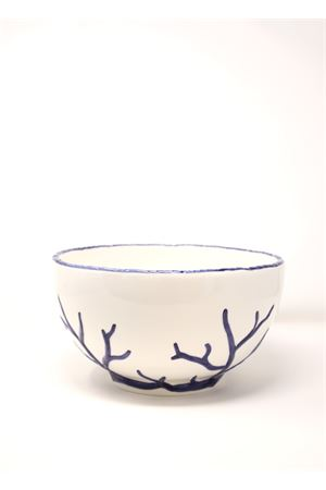 Ceramic medium bowl with corals  Sea Gull Capri | 5032235 | CIOTOLACORALLOBLU