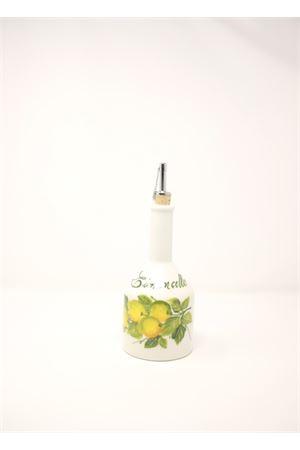 bottiglia in ceramica dipinta con limoni per limoncello Sea Gull Capri | 20000026 | LIMONCELLOBOTTLELEMONS