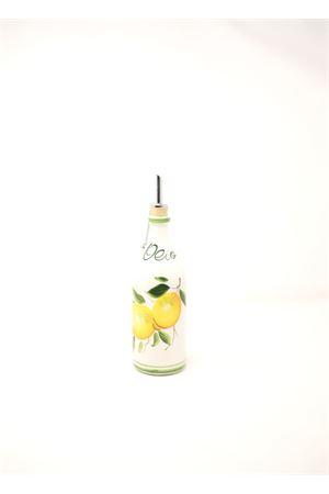 bottiglia per olio in ceramica con limoni Sea Gull Capri | 20000026 | OLIOLEMONS