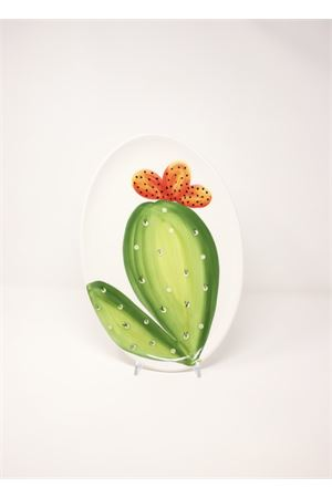 Serving plate in ceramic with  prickly pears Sea Gull Capri | 5032235 | OVALEGRANDEFICHIFICHI