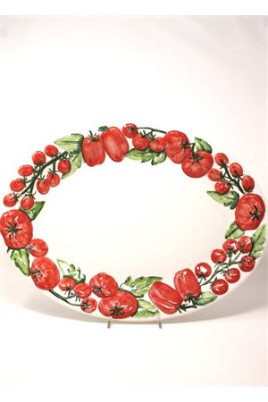 Ceramic big serving plate with tomatoes Sea Gull Capri | 5032235 | OVALEPOMODORIPOMODORI