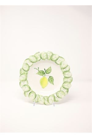 Deep plate with lemons  Sea Gull Capri | 5032235 | PIATTOFONDOLIMONIFOGLIE