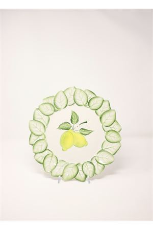 Flat plate with lemons and leaves Sea Gull Capri | 5032235 | PIATTOPIANOLIMONIFOGLIE