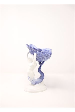 Ceramic sculpture mermaid-shaped  Sea Gull Capri | 20000025 | SIRENACONCHIGLIABLU