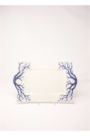 Ceramic tray with blue corals  Sea Gull Capri | 20000015 | VASSOIOCORALLOBLU