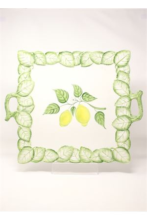 Ceramic tray with lemons  Sea Gull Capri | 20000015 | VASSOIOQUADRATOLEMONS