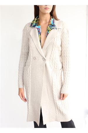 cappotto donna con trecce panna  in modal e mohair Aram Capri | 3 | MAXICAPPOTTOTRECCEBEIGE