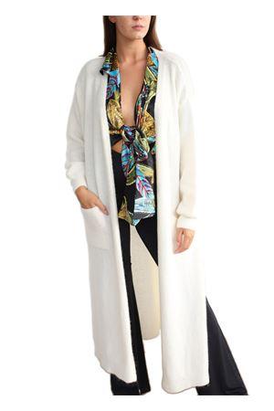 Giacca lunga in lana bianca Aram Capri | 3 | MAXIGIACCABIANCO