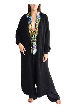 Giacca lunga in lana nera Aram Capri | 3 | MAXIGIACCANERO