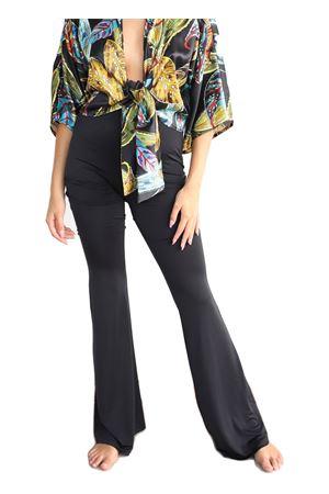pantaloni in jersey nero a zampa di elefante Aram Capri | 9 | PANTALONIJERSEYZAMPANERO
