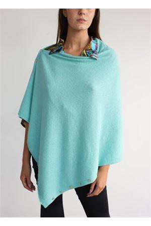 Green cape with button  Aram Capri | 52 | PONCHOBOTTONIVERDE