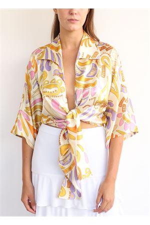 Camicia in seta cut out con nodo Capri Chic | 6 | CAMICIANODOBEIGE