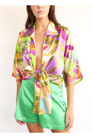 Camicia corta e scollata in seta Capri Chic | 6 | CAMICIANODOVERDEVIOLA
