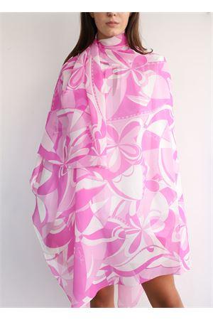 Sciarpa maxi con stampa stile Capri rosa Capri Chic | 77 | FOULARDCHIFFONROSA