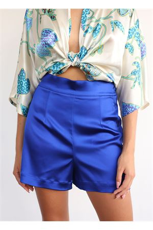 Shorts sartoriali blu elettrico Capri Chic | 30 | SHORTRASOBLU
