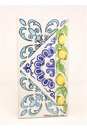 Cutlery holder with lemons and majolioca  Ceramicapri | 20000026 | POGGIAPOSATELIMONILIMONI