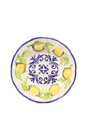 set di due piatti con maiolica e limoni dipinti a mano Ceramicapri | 5032235 | SETPIATTILIMONIBLUBLU