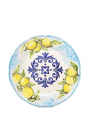 Set di due piatti piani con limoni e maiolica dipinti a mano Ceramicapri | 5032235 | SETPIATTILIMONITURCHTURCHESE