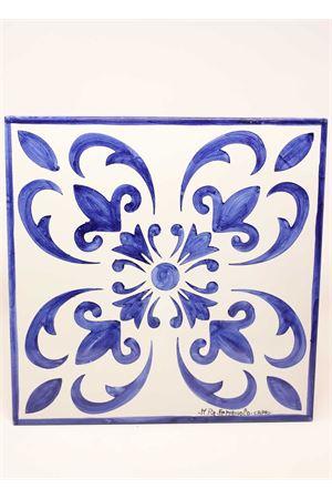 Ceramic charger plate with majolica pattern  Ceramicapri | 5032235 | SOTTOPIATTOMAIOLICHEBLU