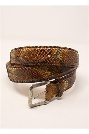 Cintura in pitone marrone Da Costanzo | 22 | CINTURAPITONECLASSICMARRONE
