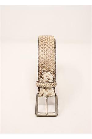 cintura in pitone grigio Da Costanzo | 22 | CINTURAPITONEGRIGIOSFUMATO