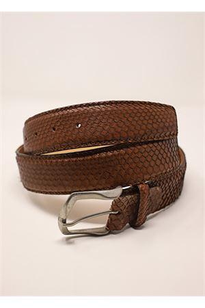 cintura in pitone marrone Da Costanzo | 22 | CINTURAPITONEMARRONE