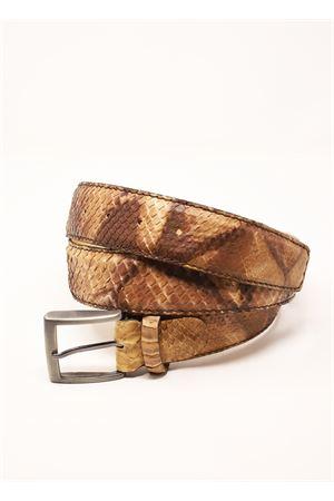 Cintura in pitone beige marrone Da Costanzo | 22 | CINTURAPITONEMARRONEBEIGE