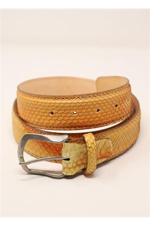 cintura in pitone senape Da Costanzo | 22 | CINTURAPITONESENAPE