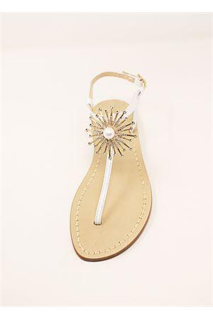 Jewel flat bridal sandals Da Costanzo | 5032256 | SANDALISPOSAGOLD