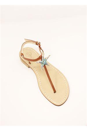 Capri sandals with starfish Da Costanzo | 5032256 | SANDALISTELLAMARINAAZZURRO