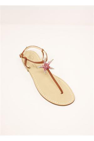 Capri sandals with fuchsia starfish Da Costanzo | 5032256 | SANDALISTELLAMARINAFUXIA