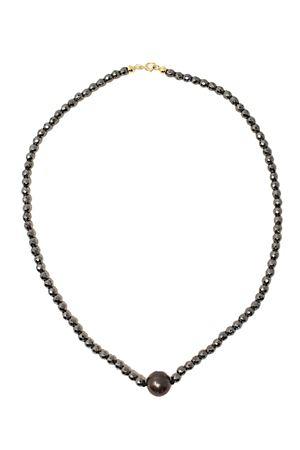 Hematite narrow neck necklace Don Alfonso Gioielli | 35 | AL735NERO