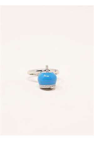 Anello con ciondolo Campanella azzurra Manè Capri | 5032250 | ANELLOCAMPANELLASMALTAZZ