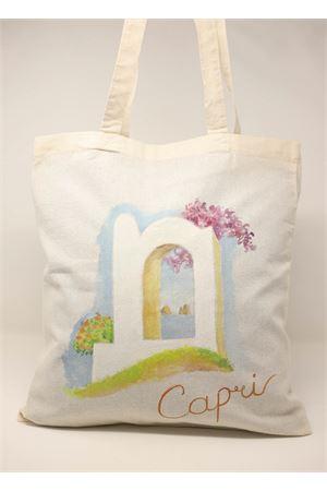 hand painted Capri landscape shopper Antonio Palomba | 31 | SHOPPERDIPINTAVEDUTACAPRESE