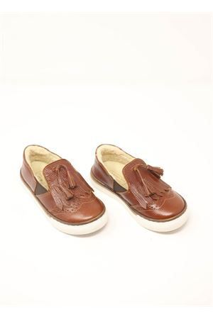 Moccasin shoes with tassels  Baby Walker | 12 | BW02MARRONE