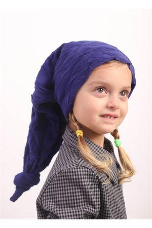 Long fleece blue hat  Orimusi | 26 | ORI595BLU