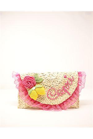 Clutch in paglia con limoni e fiori in crochet Capridea | 31 | CLUTCHCAPRIFLOWERSLEMONS
