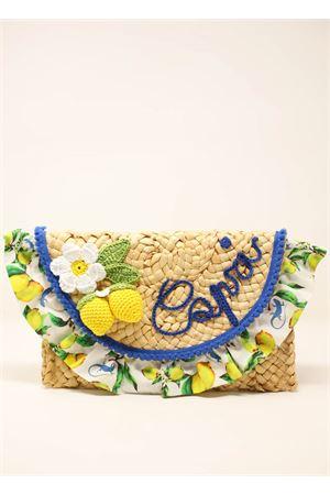 pochette in paglia con limoni Capridea | 31 | CLUTCHCAPRILEMONSLEMONS