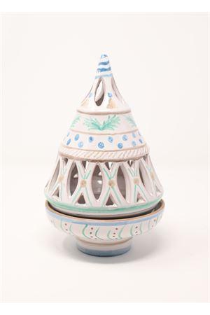 Portacandele a forma di albero di Natale traforato Ceramicapri | 20000025 | ALBEROBASECANDELACELESTE