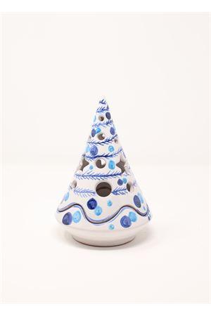 Albero di Natale in ceramica azzurro e blu Ceramicapri | 20000025 | ALBEROSCATOLABLU